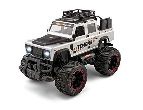 NincoRacers - Overlander Ténéré Batería Li-Ion. Coche Monster Truck Teledirigido. Escala 1/14. con Luces. Emisora 2,4 GHz. Color Gris. +6 años. NH93174