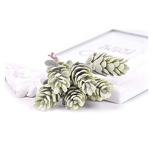 kyman Fassse Fleur 6 Teile/los Künstliche Blumen Ananas Gras Gefälschte Pflanze Für Hochzeit Weihnachtsdekoration DIY Handwerk Wohnkultur Kranz Scrapbooking Jolie (Farbe: Grün) (Color : Green)