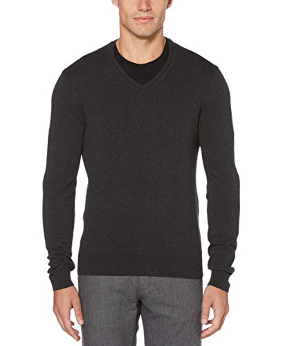 Grey V-neck Sweater Mens
