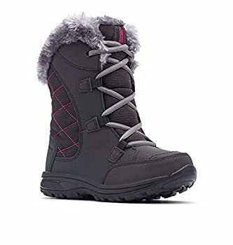 Columbia Youth Ice Maiden Lace Winter Boot  Black 2 M US Little Kid