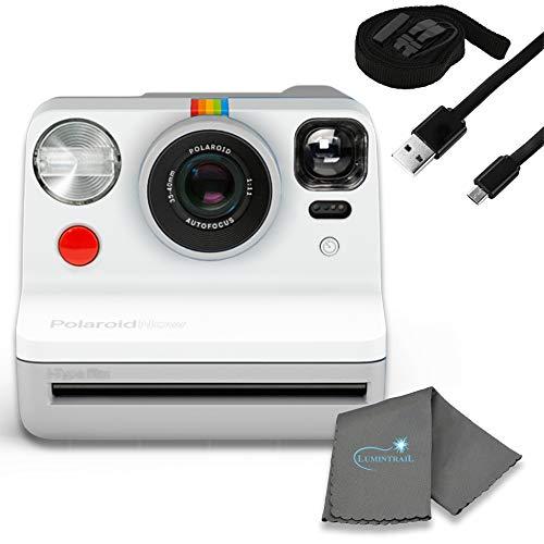 Polaroid Now I-Type Paquete de cámara de película instantánea con un paño de limpieza Lumintrail