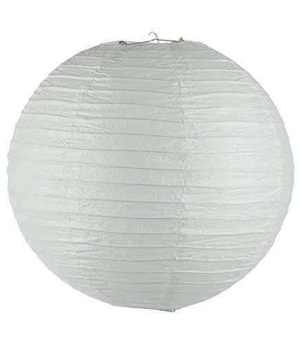 Suspension lanterne boule blanche (D.45cm)