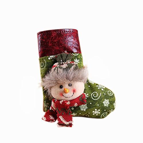 Demarkt - Bolsa de regalo (13 x 16 cm), diseño de muñeco de nieve