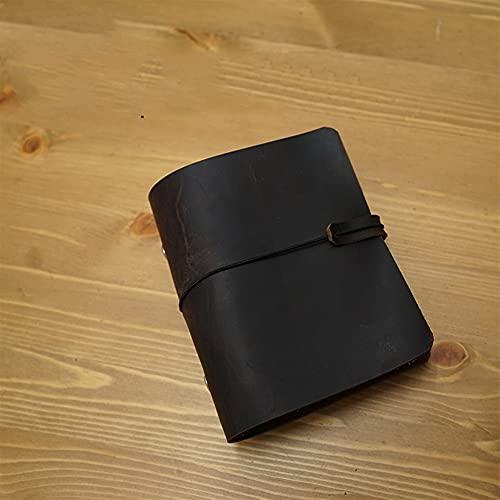 PFZL A7 Tamaño 3 Cm Libro De Anillo Cuaderno Diario Diario Agenda Hecho A Mano Diario Sketchbook Suministros Escolares (Color : Brown no refiller, Size : A7)