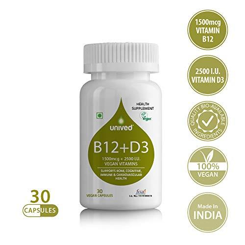 Unived B12D3 1500mcg Methylcobalamin with 500mcg Methyltetr