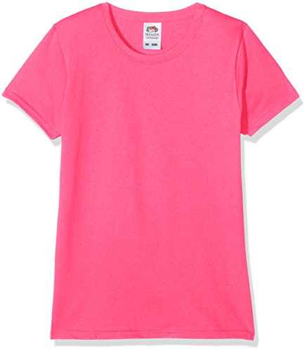 Fruit of the Loom Valueweight - T-Shirt Fille, Rose (Fuschia 57), 12/13 ans