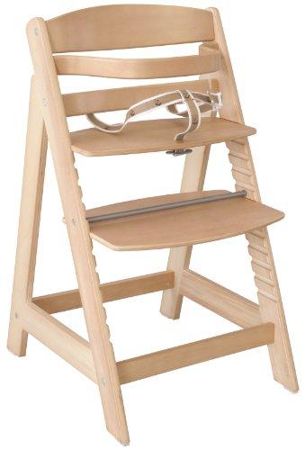 roba Chaise haute évolutive 'Sit Up III', en bois naturel, chaise haute qui suit la croissance de votre enfant, de chaise haute devient chaise.