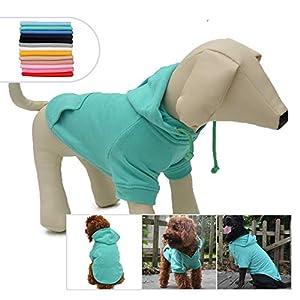 longlongpet pour Animal Domestique Vêtements Vêtements Capuche Manteau d'hiver Automne Sweat-Shirt pour Chiens de Taille Petite Moyenne Grande 11Couleurs 100% Coton 2018Neuf