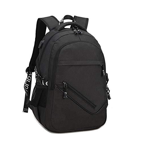 HUI JIN Mochila para portátil antirrobo, para bolsas de secundaria, color negro
