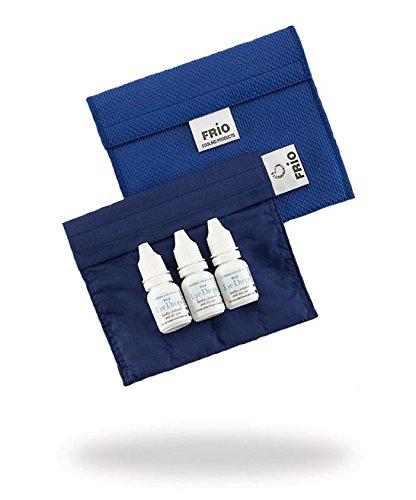 FRIO Kühltasche für Insulin - Glaukom, 14 x 12cm, blau - KEIN Eispack oder Batterien nötig, für Augentropfen in Standardgröße (bis zu 10 ml) oder Flaschen, ABER KEIN PEN!
