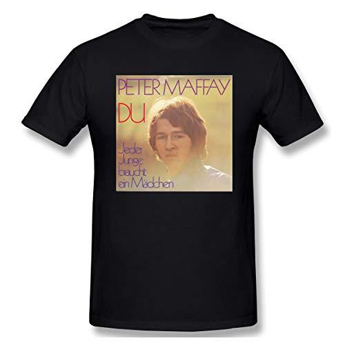 Liteschi Herren Peter_maffay-du Bequem T-Shirt Black 3XL Mit Herren-Kurzarm