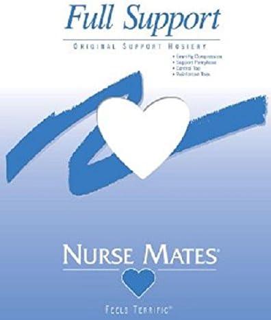 Nurse Mates - Womens - Full Support Hosiery (C, White)