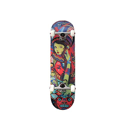 Buy Discount LIUFS-Skateboards Complete Beginner Skateboarding Child Boy Girl Adult Professional Competition Skateboard 31.5 Inches – Color Girl Series (Color : Multi-Colored)