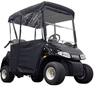 Kansas golf and turf 2 PASS ENCLOSURE FOR EZGO RXV | BLACK
