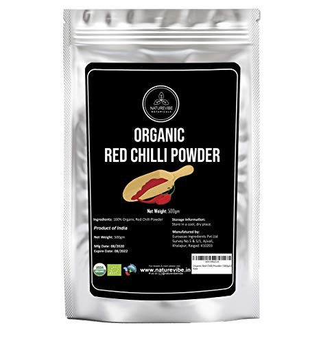 Organic Red Chilli Powder (500gm) | Ground from Dried Red Chillies | Adds Heat and Flavor to Sauces, Curries and Roasted Veggies