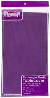 2 حزمة من مفرش المائدة البلاستيك المستطيل حزب الأرجواني 54 × 108 بوصة