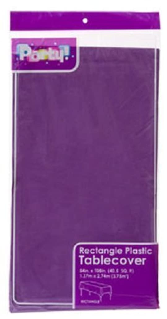 2-Pack Plastic Rectangle Party Tablecloth Purple 54 X 108 Inches