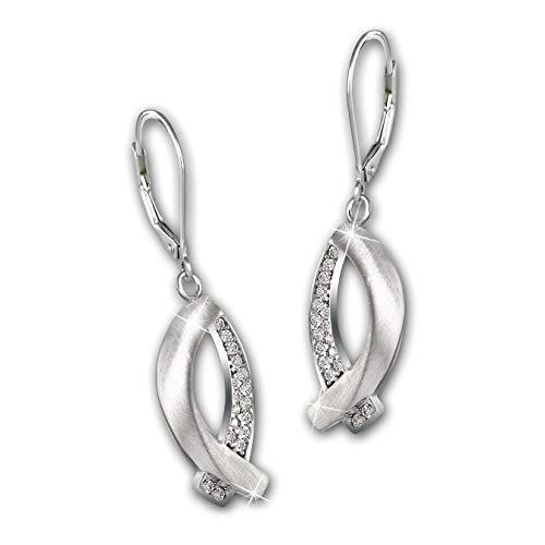 SilberDream Ohrhänger Fisch Damen 925er Echt Silber Schmuck Ohrringe D2SDO4336W ein Geschenk zu Weihnachten, Geburtstag, Valentinstag für die Frau
