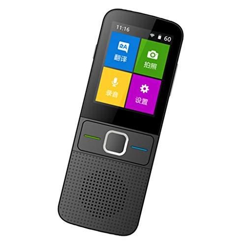 kesoto WiFi/Offline Übersetzer Sprachübersetzergerät Echtzeit Translator Übersetzungsmaschine mit 139 Sprachen, 2.4 Zoll IPS Touchscreen - schwarz