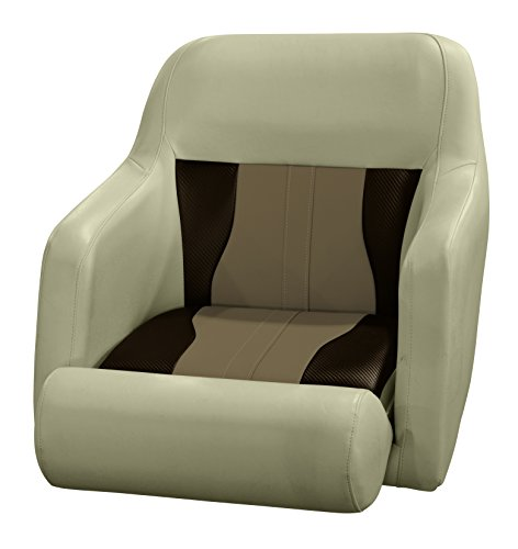 Wise 3012-1806 Mocha Java, Cuddy Cafe, & Chesapeake Brown Carbon Fiber Talon Bolster Bucket Helm Seat, Mocha Java-Cuddy Cafe-Chesapeake Brown Carbon