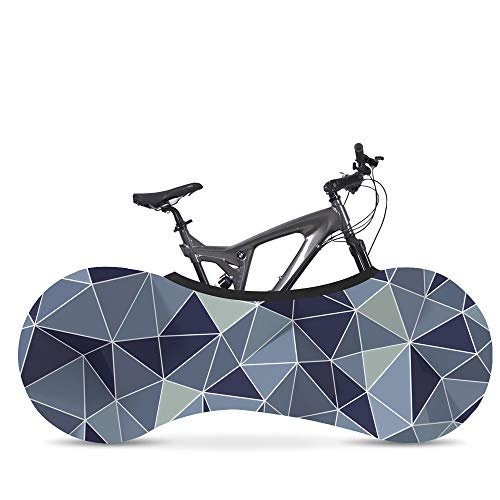 Indoor Mountain Bike Cover Bicycle Storage Cover, Bike Wheel Cover, Indoor Anti-Dust Mountain Bike Storage Bag Keeps Floors and Walls Dirt-Free Suitable for Tires of 26-28 Inches (Shining Grey)