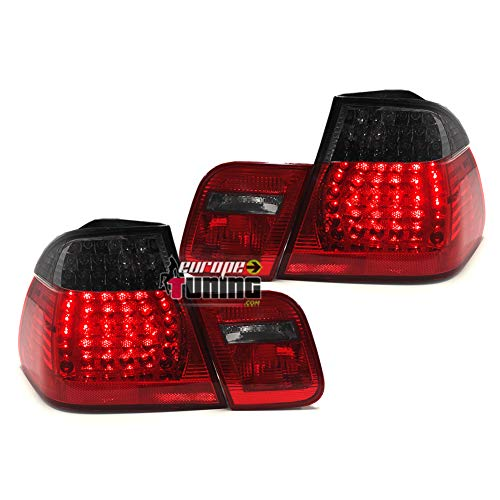 europetuning - 12271-2 FEUX ROUGES NOIRS LOOK M3 A LEDS SERIE 3 E46 BERLINE 2001-2005 PHASE 2