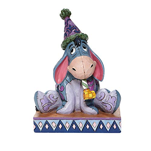 Jim Shore Disney Traditions 6008074 Eeyore with Birthday Hat and Horn Figurine 5.75""