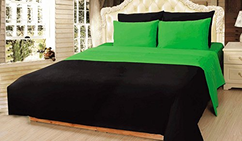 Great Features Of Tache Home Fashion DUALColorGreen-C Bedding Set, California King, Green