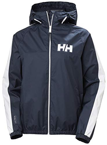 Helly Hansen Vista Packable Regenjacke Chaqueta Impermeable para Mujer, Azul Marino, Extra-Large