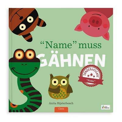 YourSurprise Personalisiertes Kinderbuch mit Namen: Jeder gähnt, PERSONALISIERBAR, Hardcover