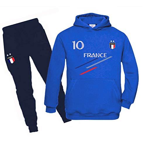 JHK - Chándal de fútbol de Francia con 2 estrellas para niño