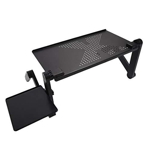 Yhtech Modern PC portátil flexible Escritorio portátil plegable ajustable portátil tabla del escritorio del ordenador soporte de bandeja for el sofá cama Tabla Alfombra Meadow Utilizado en espacio peq