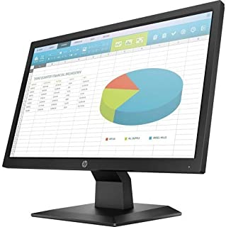 "HP P204 19.5"" HD+ Monitor Black - 1600 x 900 HD+ Display - 60 Hz Refresh Rate - in-Plane Switching Technology - 5Ms Response Time - 1 VGA & HDMI Port - 1 DisplayPort 1.2"