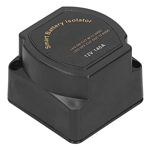 ROMACK Relé Sensible al Voltaje, Flexible de Usar Robusta Carcasa de Nailon Reforzado con Fibra de Vidrio Aislador de batería La batería Auxiliar continuará suministrando energía para el automóvil