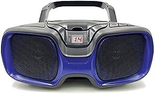 SYLVANIA SRCD1037BT-BLACK/BLUE Bluetooth Portable CD AM/FM Radio Boombox (Blue)