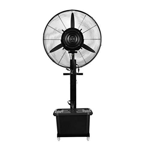 Airconditioningventilator, industriële verstuiver, staande ventilator, koeling door oscillatie automatisch plus water, multifunctioneel Black-3 Gear1