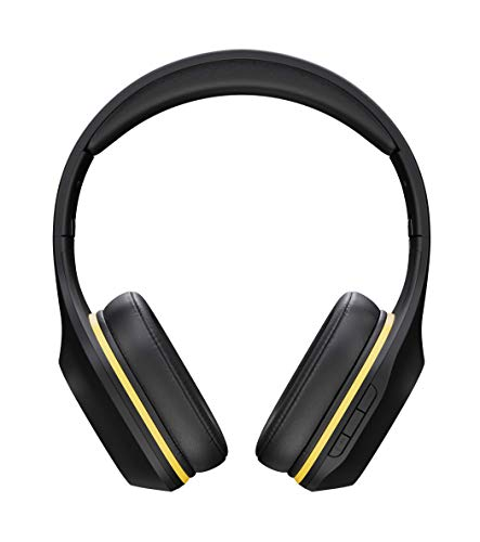 MGC Nomad Bluetooth Headset, Over-Ear Design, All-Day Comfort, Superior Sound Quality for Crisp Highs and Strong Bass, Up to 24-Hr Battery Life, Low Latency, Includes Cables and Hard Travel Case