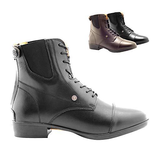 SUEDWIND FOOTWEAR »Advanced II BZ LACE« REIT-Stiefelette | Reißverschluss hinten | Echt-Leder | Ortholite Sohle | Tolle Passform, hoher Komfort, robust | Schuh-Größen 40 | Stiefel-Farbe: Schwarz