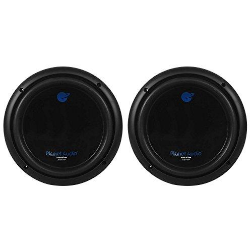 2) PLANET AUDIO AC10D 10' 3000W Dual 4Ohm Voice Coil Car Stereo Audio Subwoofers