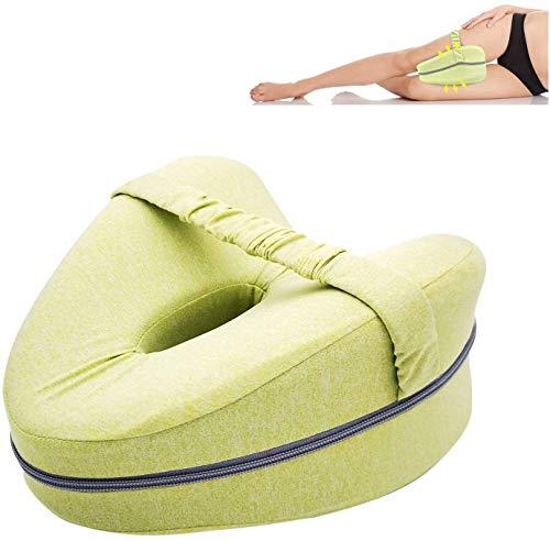 Almohadas ortopédicas posicionadoras de pierna almohada de apoyo de espuma para espalda, cadera, piernas apoyo cuña y alivio de presión de nervios ciáticos (amarillo)