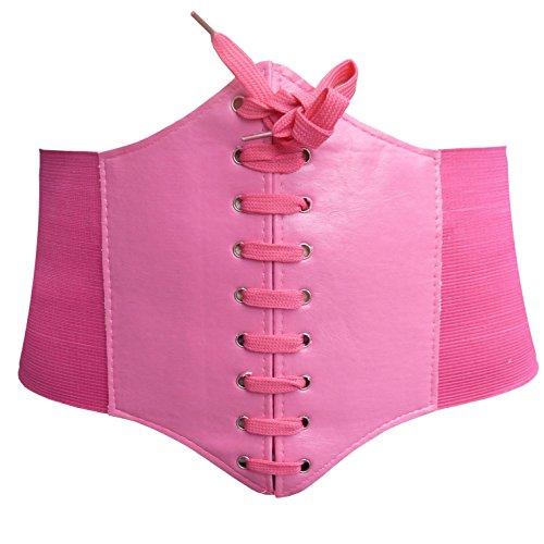 HOEREV elastischen breiten elastischen Band gebunden waspie Korsett Hüftgurt_XXL_Pink
