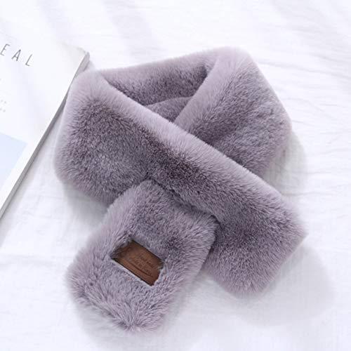 Vera Laurie Nützlicher Damen-Schal aus Kunstfell-Imitat, weiches Kaninchenfell Gy