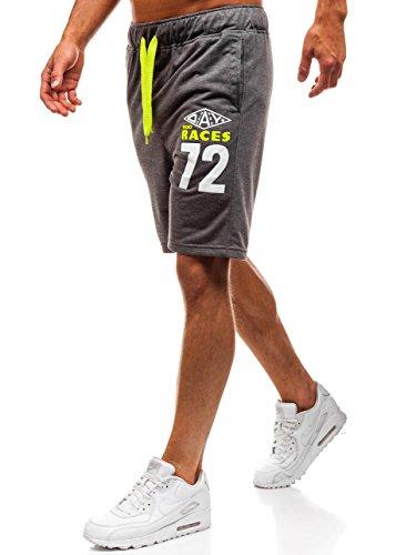 BOLF Herren Kurzehose Sporthose Shorts Sport Style Extreme EX05 Dunkelgrau L [7G7]