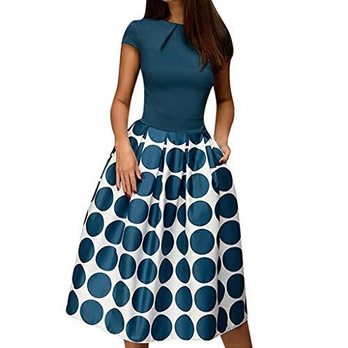 Vectry Vestidos Vestidos Mujer Casual Verano Vestidos Sexys Y Elegantes Moda Mujer 2020 Rebajas Vestidos Vestidos De Mujer Verano Vestidos De Fiesta para Comuniones Vestidos (_Azul, XL)