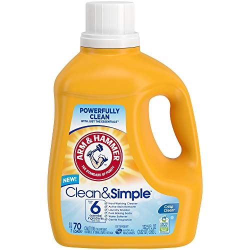 Arm & Hammer Clean & Simple, 70 Loads Liquid Laundry Detergent, 122.5 Fl oz