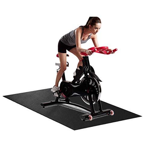 150 x 75cm Stoßdämpfende Schutzmatte Verschleißfeste Matte Bodenschutzmatte für Heimtrainer, Fitnessgeräte, Crosstrainer, Rudergeräte, Sportgeräte