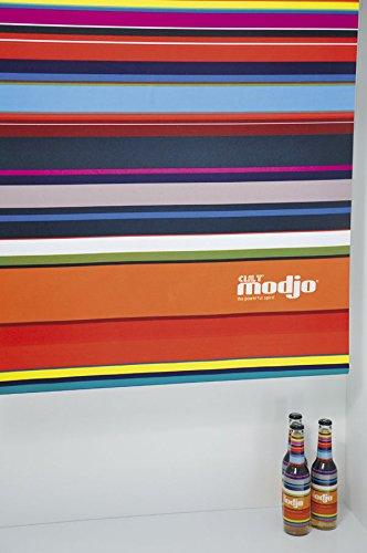 Debel Rollo Verdunklungs-Rollos für Fenster blickdicht bedruckt Kettenzug mit Streifen Größe 80x175cm