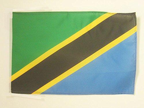 AZ FLAG Flagge TANSANIA 45x30cm mit Kordel - TANSANISCHE Fahne 30 x 45 cm - flaggen Top Qualität