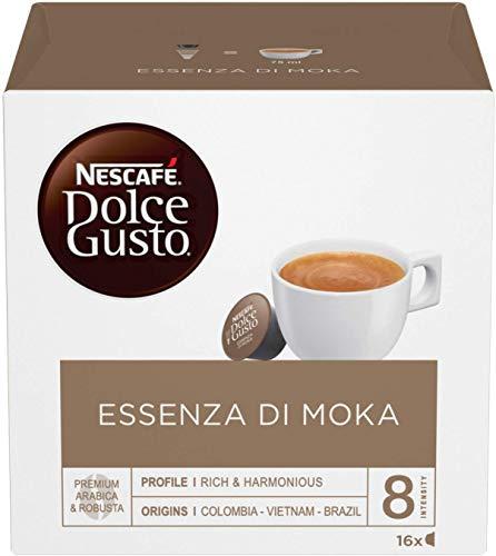 Nescafé Dolce Gusto Essenza di Moka Caffè Espresso, 6 Confezioni da 16 Capsule (96 Capsule)