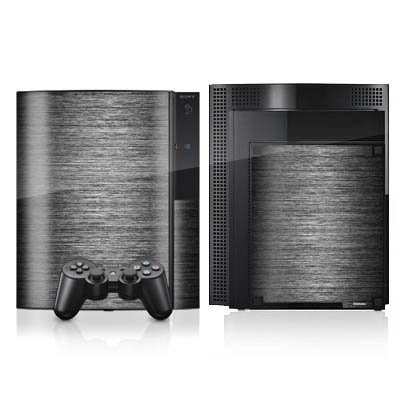 DeinDesign Skin kompatibel mit Sony Playstation 3 Folie Sticker Metallic Look Metall Thermomixmotive